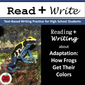 Adaptation: Poison Dart Frogs - Real World Reading & Writing