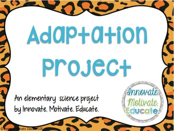 adaptation project an elementary science lesson plan tpt