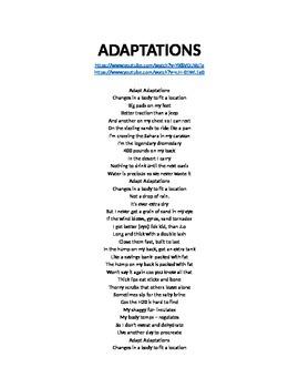Adaptation Song Lyrics