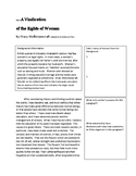 Adaptation of The Vindication of the Rights of Woman by Ma