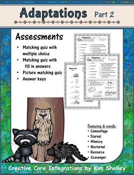 Adaptations 2 Assessment