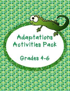 Adaptations Activities Pack