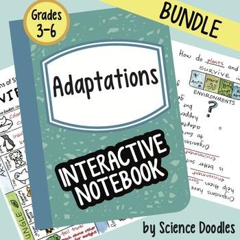 Science Doodle - Adaptations Interactive Notebook BUNDLE Notes