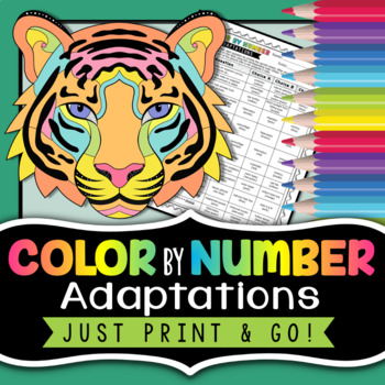 Adaptations Color by Number - Science Color By Number by Morpho Science