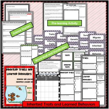 Inherited Traits & Learned Behaviors: Complete Lesson Set Bundle (TEKS & NGSS)