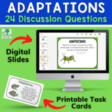 Plant and Animal Adaptations Discussion Cards