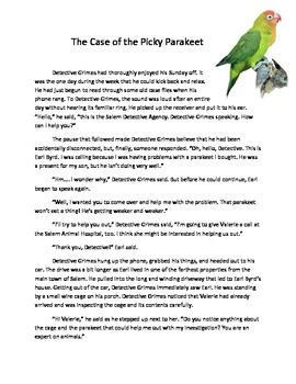 Adaptations Experiment Bird Beaks: The Case of the Picky Parakeet