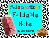 Adaptations Foldable Note