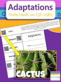 Adaptations Study Guide with QR Codes