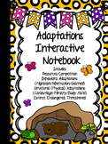 ADAPTATIONS Interactive Notebook  - {Animals and Plants} B