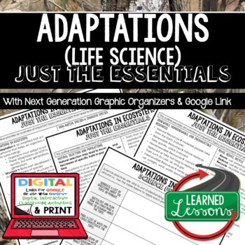 Adaptations Just the Essentials Content Outlines Next Generation Science, Google
