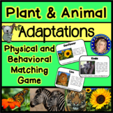 Adaptations Match Game - Physical and Behavioral Adaptations
