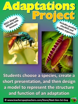 Adaptations Project - Research a Species & Create a Model NGSS