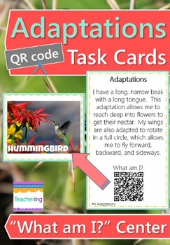 Adaptations Task Cards with QR Codes
