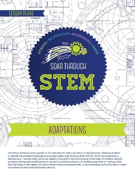 Adaptations - STEM Lesson Plan With Journal page