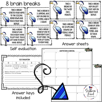 Adaptations & Survival Scoot Game/Task Cards