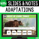 Adaptations Slides & Notes 4th Grade | Bonus Distance Learning