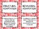 Adaptations - Structural & Behavioural - Card Sort