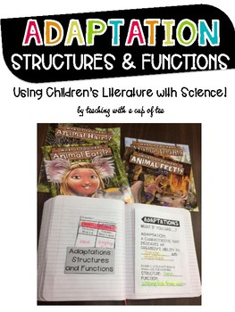 Adaptations: Structures & Functions FREEBIE