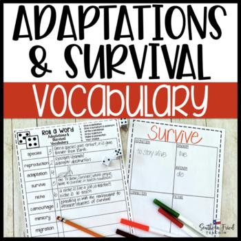 Adaptations & Survival Fun Interactive Vocabulary Dice Activity