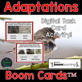 Adaptations Task Cards - Distance Learning Compatible Digi