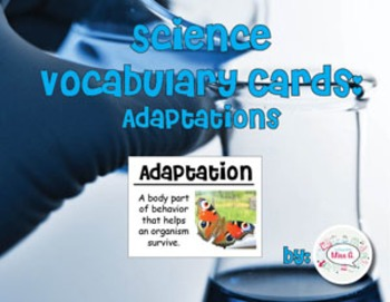 Adaptations Vocabulary Cards