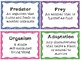 Adaptations Vocabulary Posters and Activities