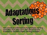 Adaptations Vocabulary Sorting