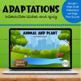 Adaptations | Woodland and Pond | Google™ Slides and Forms