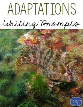 Animal Adaptations & Plant Adaptations & Extinction Writing Prompts
