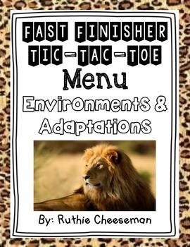 Adaptations and Environments Choice Menu