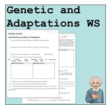 Adaptations and Genetics WS