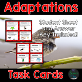 Adaptations and Natural Selection Task Cards - Distance Learning Compatible