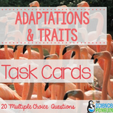 Adaptations and Traits Vocabulary Task Cards