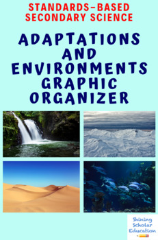 Adaptations and Environments Graphic Organizer Science