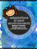 Adaptations in Land Environment: Student Lesson Guides