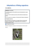 Adaptations of living organisms