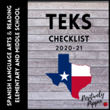 Adapted 2017 for 2019-20 Spanish Language Arts and Reading TEKS Checklist K-8