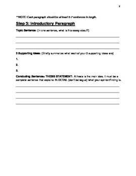 Adapted 5-Paragraph Research Essay