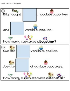 Adapted Addition and Subtraction Word Problems