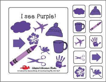 Adapted Adventure Books! - Color Series - PURPLE!