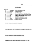 Adapted Alcohol Test