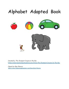 Adapted Alphabet Book