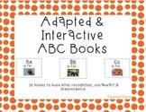 Adapted Alphabet Book Bundle: Letters A-Z