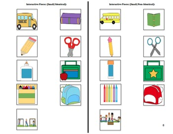 Adapted Back to School Book (1) : PRE-K / AUTISM