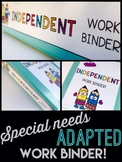 Adapted Binder Bundle- Special Needs