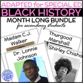 Adapted Black History BUNDLE for Secondary Special Educati