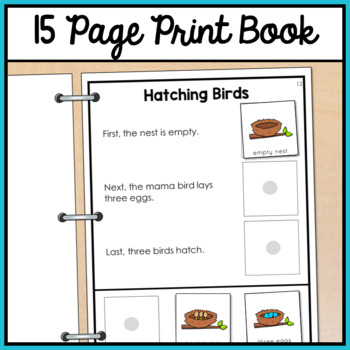 Sequencing Adapted Book for Special Education and Autism