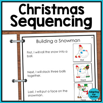 3 Step Sequencing Pack: Christmas Edition (Autism & Special Education)