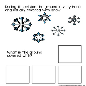 "Adapted Book ""All About Winter"" with WH Questions"